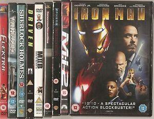 DVD Bulk Bundle / Job Lot 9 Disc's Feature Films Various Titles - Iron Man