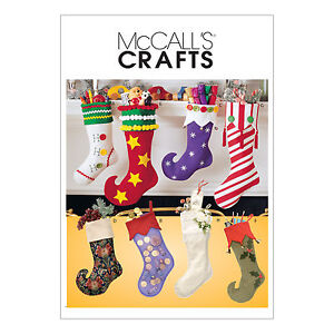 McCall's 2991 Sewing Pattern to MAKE Funky Christmas Stockings w ...