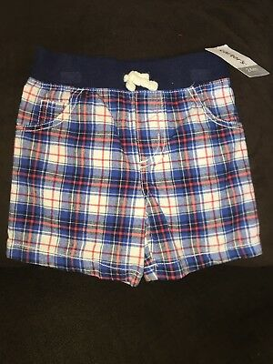 AC-27-214x2 RED PLAID CARTERS BOYS SHORTS SIZE 7