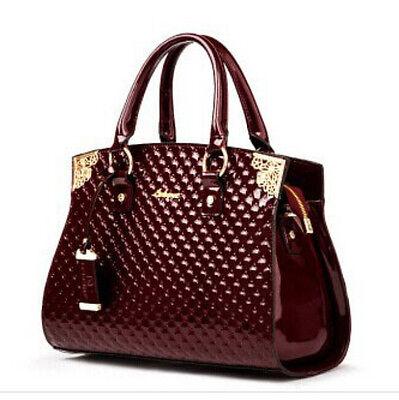 2017 Womens Patent Leather Handbag Brand Totes Lady Shoulder Bag Messenger Bags