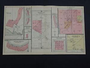 Wisconsin Shawano County Plat Map 1911 Bonduel Aniwa