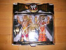 *WWE HULK HOGAN & ULTIMATE WARRIOR DUAL SIGNED CLASSIC SUPERSTARS ONSITE PROOF*