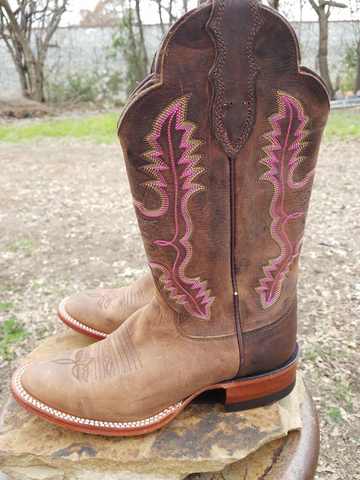 Justin para mujer L5042 Vintage vigorosos Bay Apache Occidental botas De Estilo Retro 6.5 B