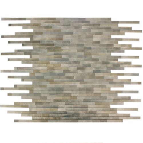 MUSTER von Mosaikfliesen Aluminium Wishbone Braun Beige Küchenwand Rückwand Bad