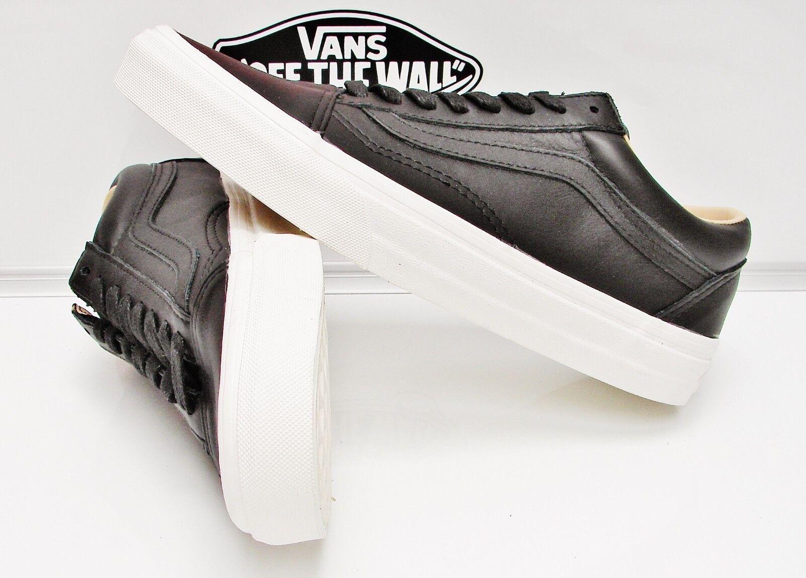 Vans Old Skool (Lux Leather) Black/ Porcini VN-0A38G1QTS Men's Size: 6.5