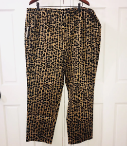516f5e673c9 NEW August Max Pants Plus Size 24 Animal Print Leopard Skinny ...