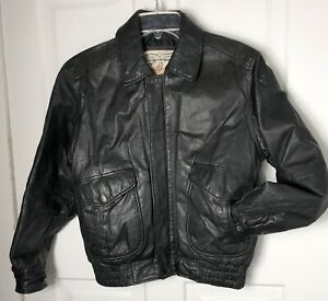 Vintage-Men-s-Medium-Women-Large-Leather-NZO-Cooper-Collection-A2-Bomber-Jacket