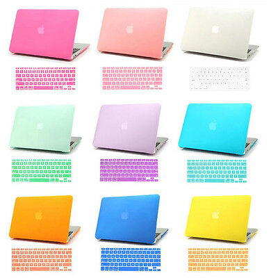 Hard Rubberized Case + Keyboard Cover for Mac Macbook Retina Pro Air 11 12 13 15