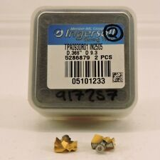Ingersoll gold tips 0.441 dia TPA1120R01-IN2505 carbide 2pcs NEW