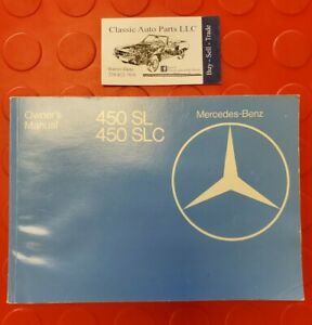 1979 Mercedes Benz 107 450sl 450slc Owners Manual Handbook Nice Ebay