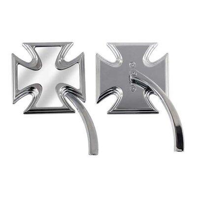 Chrom Spiegel Malteser Kreuz Twist für Harley-Davidson