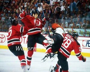 NHL-New-Jersey-Devils-Scott-Stevens-Crushing-Eric-Lindros-Color-8-X-10-Photo-Pic