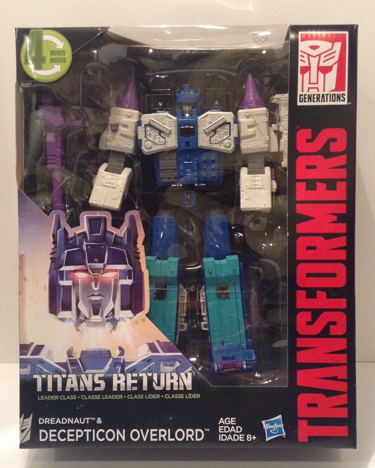 Transformers TITANS RETURN - Dreadnaut & Decepticon OVERLORD - Leader Class MIB