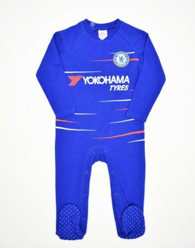 Chelsea Football Club Official 2018-19 Kit Baby Gift Sleepsuit Blue Sports CH800