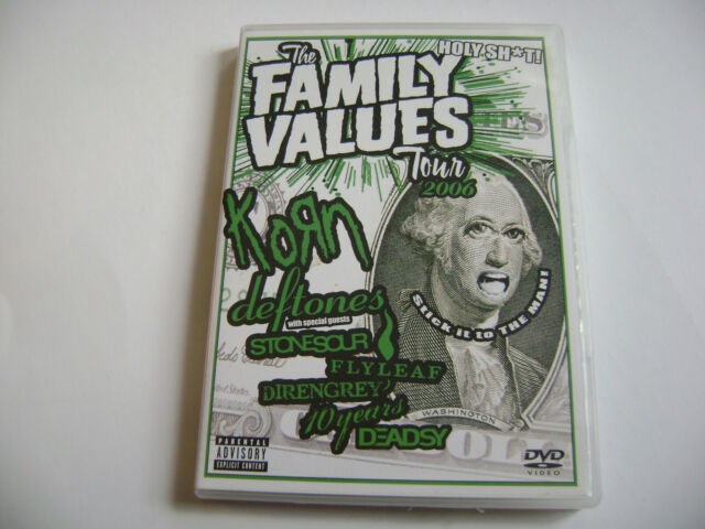 Korn / Deftones / 10 Years /...The Family Values Tour 2006 - DVD / PAL REGION