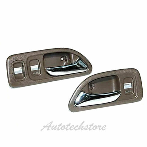 Front Left /& Right Inside Door Handle 2 For 94-97 Honda Accord LX EX Brown DH13