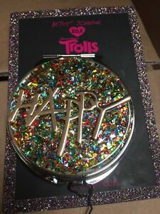 35-Betsey-Johnson-XOX-Trolls-Rainbow-Mirror-034-HAPPY-034-Compact-1F