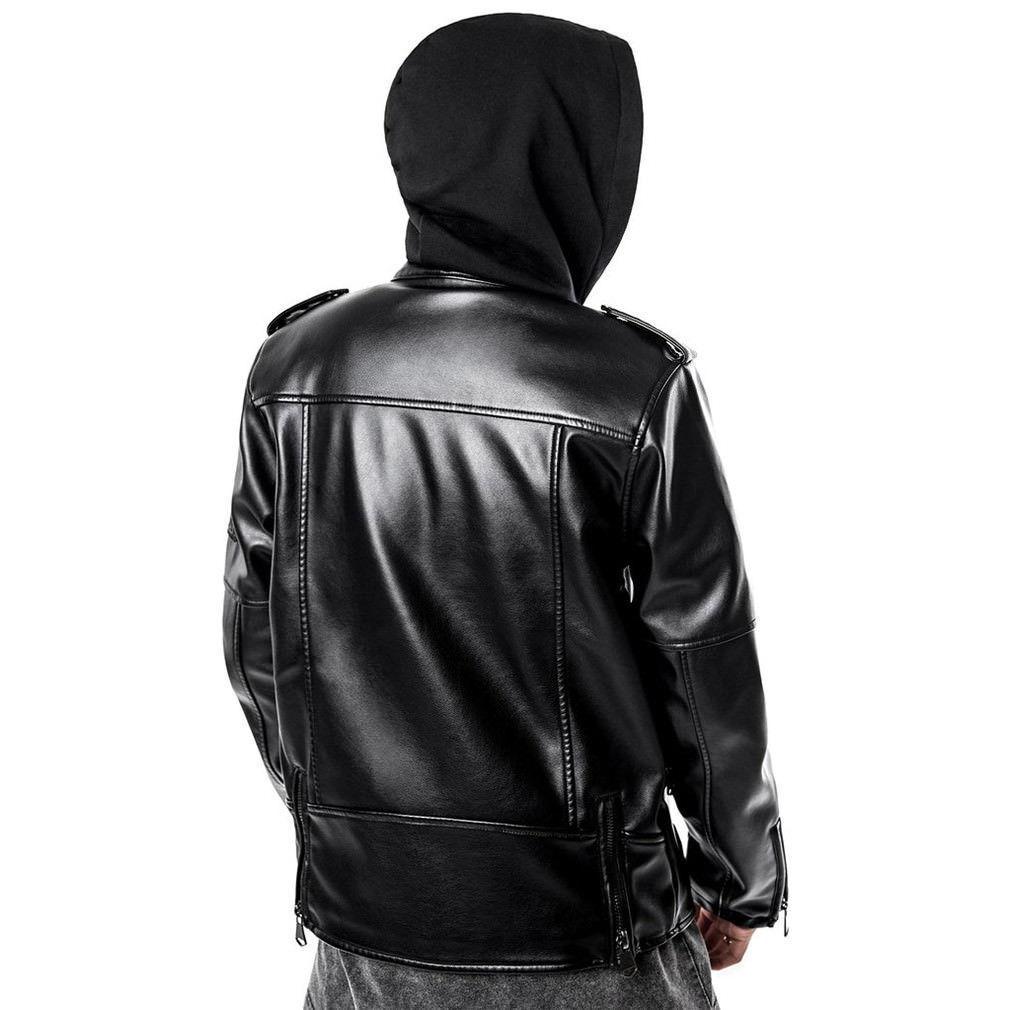 Killstar da RYDER uomo RYDER da è cattivo Moto Giacca Biker Gotico Punk vegano in pelle b9c04e