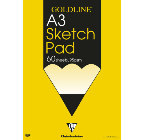 Clairefontaine Goldline Artists SKETCH PADS 95gsm Paper grained white 60 sheets