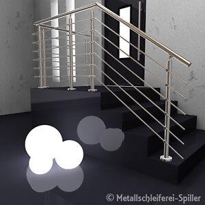 Edelstahl Gelander Balkon Handlauf 6 Traversen Aufgesetzte Montage