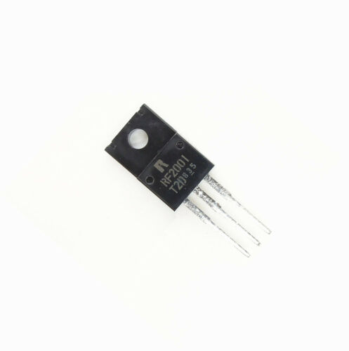 2 PCS RF2001T2D Rohm DIODE ARRAY GP 200V 10A TO220FN NEW