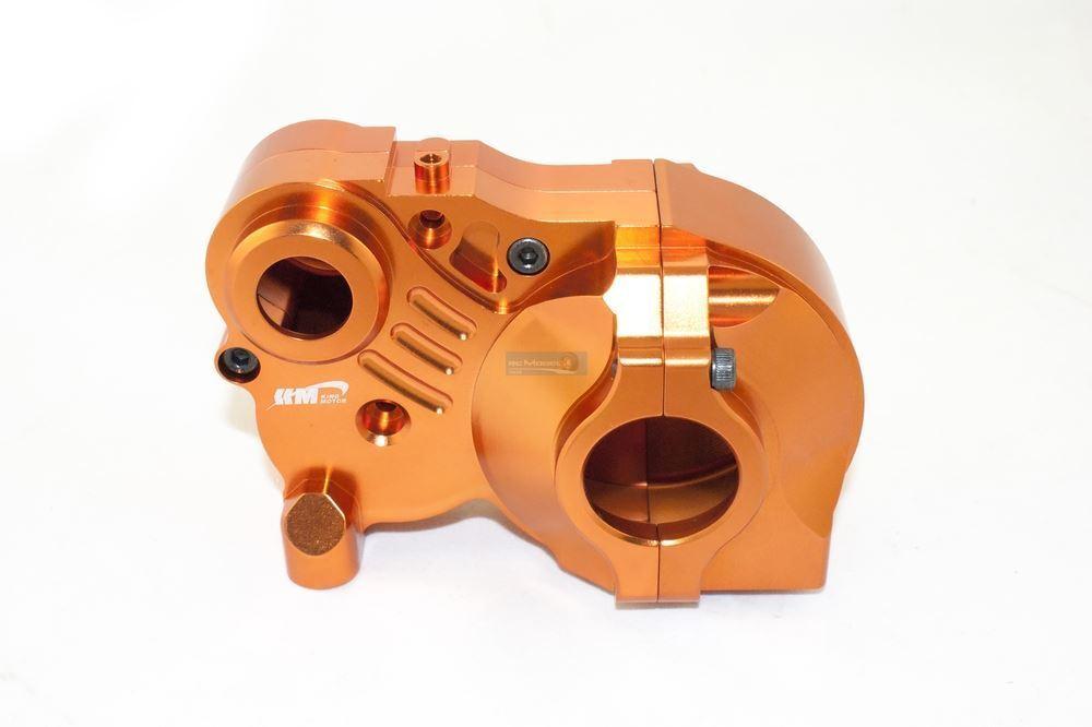 KM Triple Piece Alloy Gearbox orange B075-76 85430 1 5th RC Baja 001 Upgrade