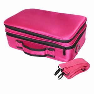 Professional High-capacity Multilayer Portable Travel Makeup Bag with Shoulder