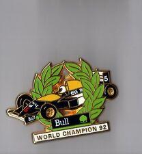 Pin's Formule 1 - world champion 92 - Bull informatique (signé Arthus Bertrand)