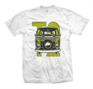 T-Shirt-T2-Slammed-Vanlife-Surf-VW-Bus-Van-Skater-Surf-Kustom-Aircooled-Boxer