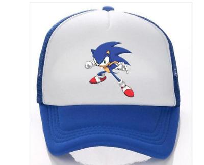 Réglable Jeunesse Cartoon Sonic The Hedgehog Baseball Hat Cap Bleu Garçons Cadeau Jouet