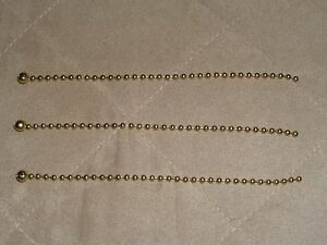 NEW-3-BRASS-BEADED-CHAINS-FOR-ANTIQUE-VINTAGE-ART-DECO-LIGHT-FIXTURE-GLASS-SHADE