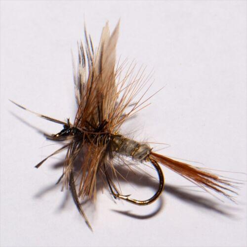 March Brown sec fly truite /& ombres pêche à la mouche mouches par libellules