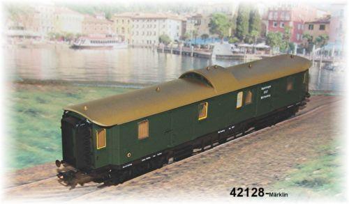 Märklin 42128 Vagón Portaequipajes K. W. Ste. NUEVO EN EMB. orig.