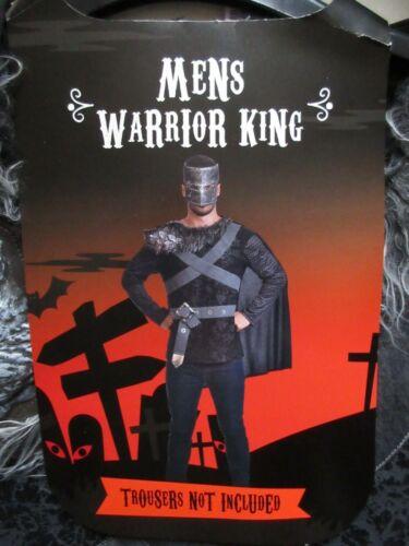 MEN/'S WARRIOR KING TOP//CAPE//MASK SIZE L//XL NEW