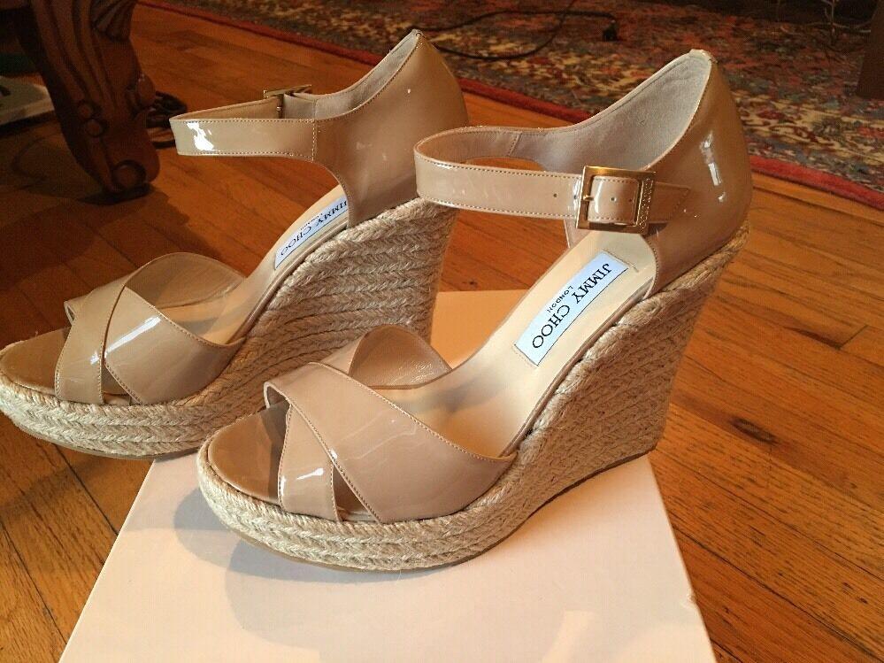 Jimmy Choo Pallis Patente Cuña Sandalias Zapatos Talla Talla Talla 40.5  comprar marca