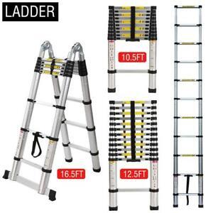 10-5-12-5-16-5-FT-Aluminium-Multi-Purpose-Foldable-Extension-Ladder-Telescopic