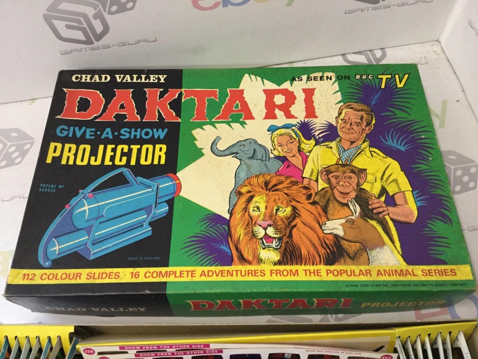 Vintage Chad Valley Daktari RARE Daktari Valley donner un spectacle projecteur BBC TV complet de travail 5dbef2
