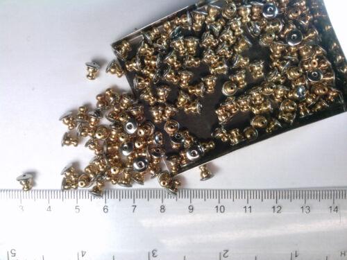 Vtg 50 GOLD METAL POST EARRING BACKS PIERCED #013019o