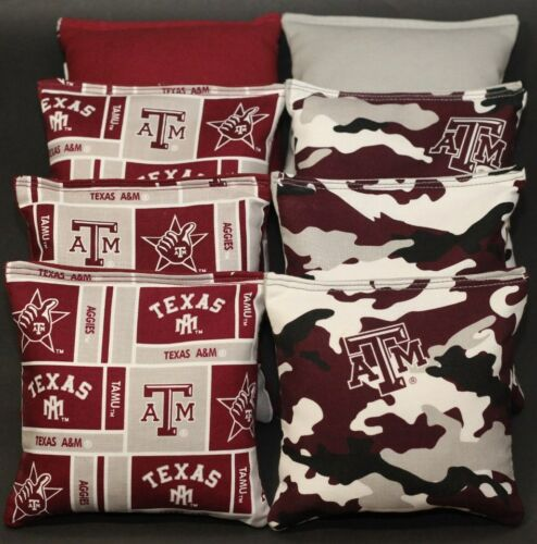 All Weather TEXAS A/&M University AGGIES CORNHOLE BEAN BAGS Plastic Resin Filled