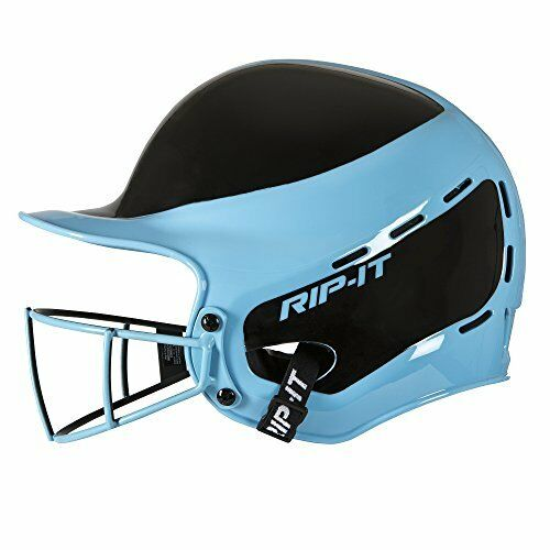 Descanse en paz-Softbol  bateo casco visión Pro lejos (azul claro, extra grande)  clásico atemporal