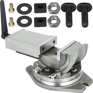 """Milling Machine Vise Precision 2 way 5"""" Tilting & Swiveling Angle Machinist Vise"""