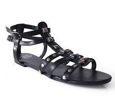 Large Size Black Gladiator Sandals UK Size 11