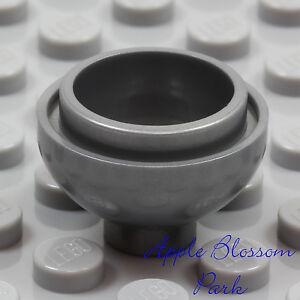 NEW Lego Minifig SILVER GRAY FLOWER POT Kitchen Food Bowl 2 x 2 Round Dome Brick