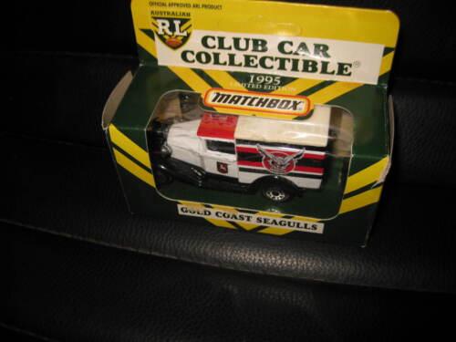 MATCHBOX MB38 MODEL A FORD 1995 ARL CLUB CAR COLLECTIBLE GOLD COAST SEAGULLS NRL