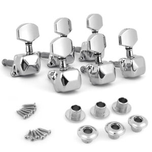Chrome-Acoustic-Guitar-String-Semiclosed-Tuning-Pegs-Machine-Heads-Tuners-3x3