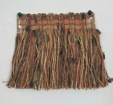 "3/"" Brush Fringe Green Brown Black Cream Chenille Drapery sew craft Upholstery"