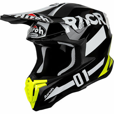 2019 Airoh Twist Helmet Racr Black White Motocross Mx Off Road New Enduro Racer Exquise (On) Vakmanschap