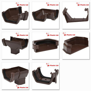 Polypipe 112mm Square Line Rain Water Gutter Fittings In Brown Ebay