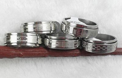 neu 50stk Großhandel Edelstahl Ringe revolvieren ring herrenschmuck