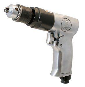 "Sunex Sx223 3/8"" Reversible Air Drill W/geared Chuck"